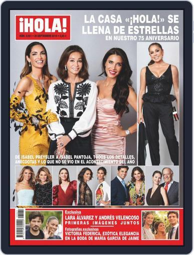 Hola (Digital) September 25th, 2019 Issue Cover