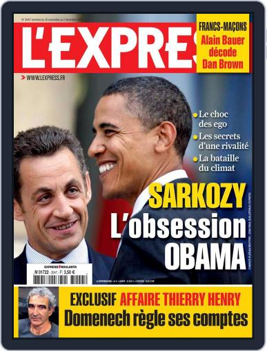L'express November 25th, 2009 Digital Back Issue Cover