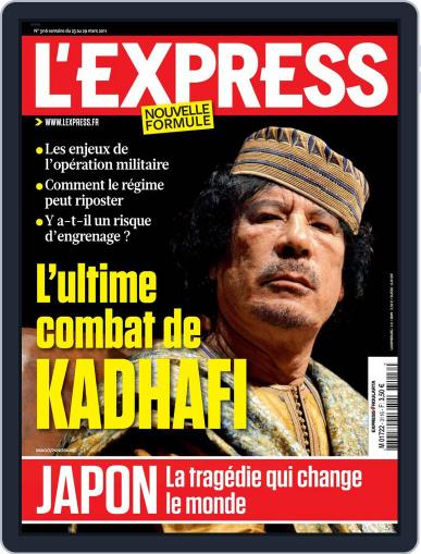 L'express (Digital) March 22nd, 2011 Issue Cover
