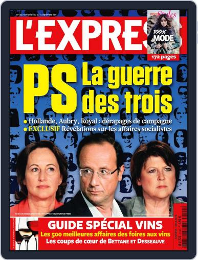 L'express (Digital) September 6th, 2011 Issue Cover