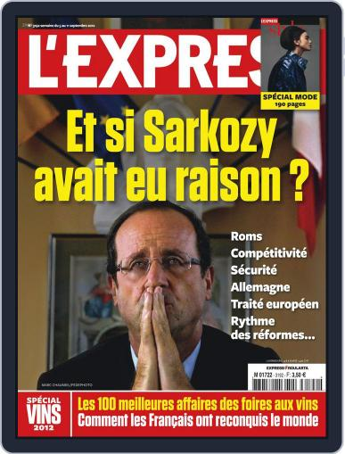 L'express September 4th, 2012 Digital Back Issue Cover