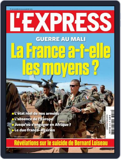 L'express (Digital) January 22nd, 2013 Issue Cover