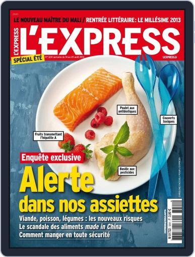 L'express August 13th, 2013 Digital Back Issue Cover