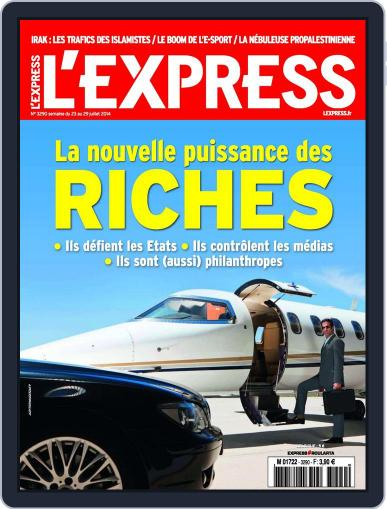 L'express (Digital) July 22nd, 2014 Issue Cover