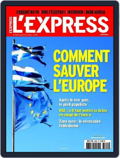 L'express July 6th, 2015 Digital Back Issue Cover