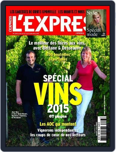 L'express (Digital) September 1st, 2015 Issue Cover