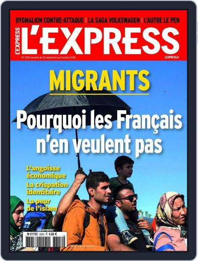 L'express (Digital) September 29th, 2015 Issue Cover