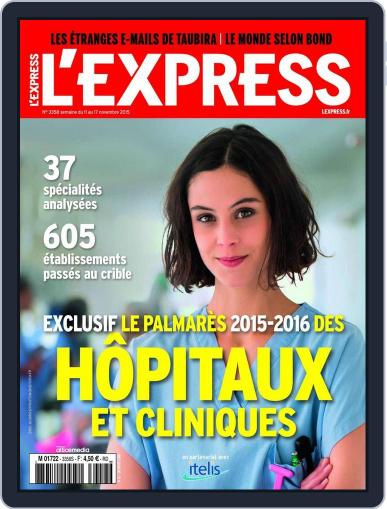 L'express November 10th, 2015 Digital Back Issue Cover