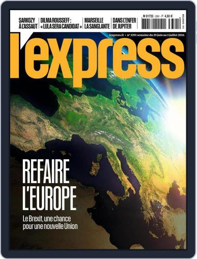 L'express June 29th, 2016 Digital Back Issue Cover