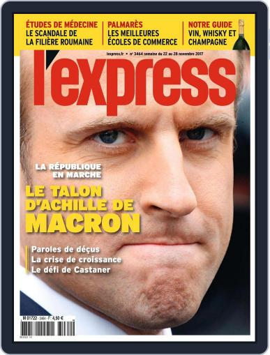 L'express (Digital) November 22nd, 2017 Issue Cover