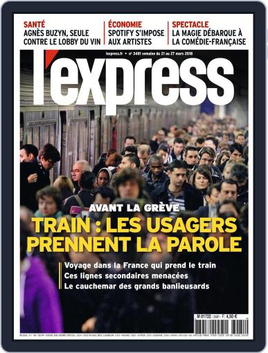 L'express (Digital) March 21st, 2018 Issue Cover