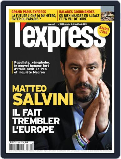 L'express August 13th, 2018 Digital Back Issue Cover