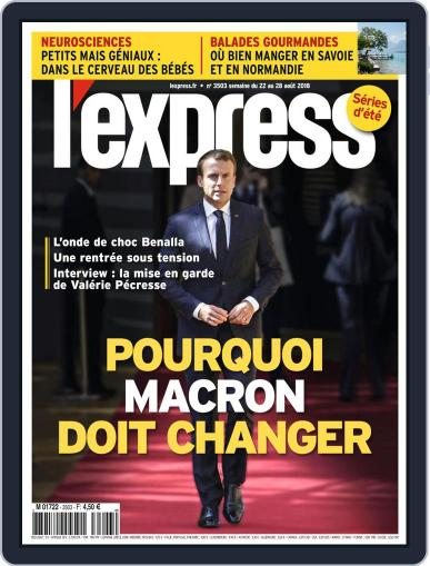 L'express (Digital) August 22nd, 2018 Issue Cover