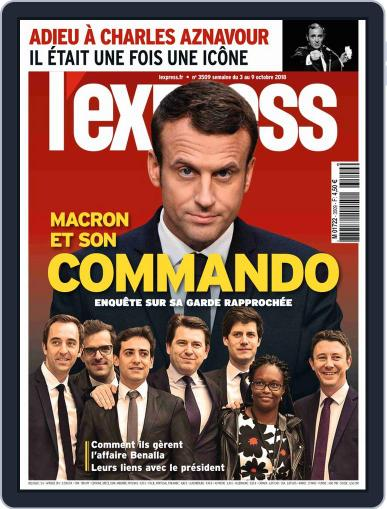 L'express (Digital) October 3rd, 2018 Issue Cover