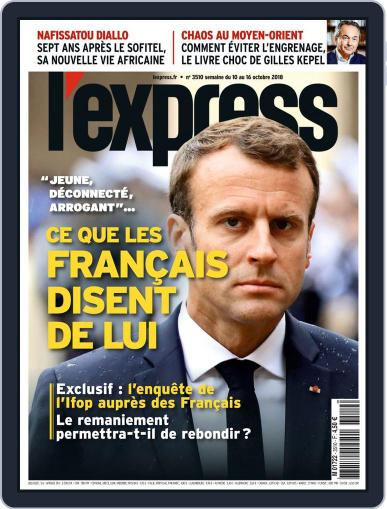 L'express (Digital) October 8th, 2018 Issue Cover