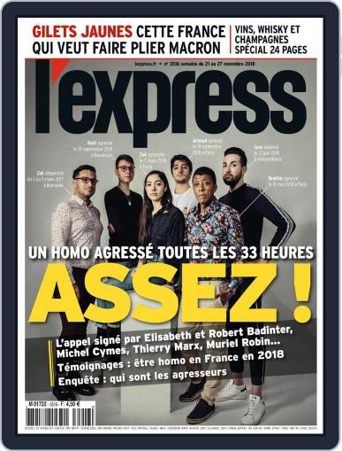 L'express November 21st, 2018 Digital Back Issue Cover