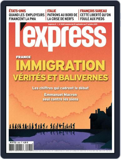L'express (Digital) September 25th, 2019 Issue Cover