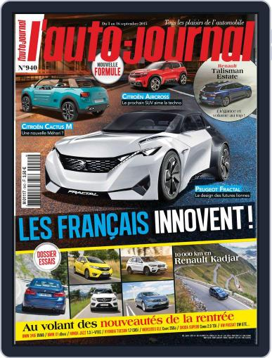 L'auto-journal (Digital) September 2nd, 2015 Issue Cover
