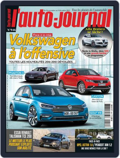 L'auto-journal (Digital) November 26th, 2015 Issue Cover