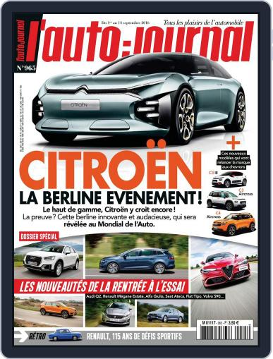 L'auto-journal (Digital) September 1st, 2016 Issue Cover