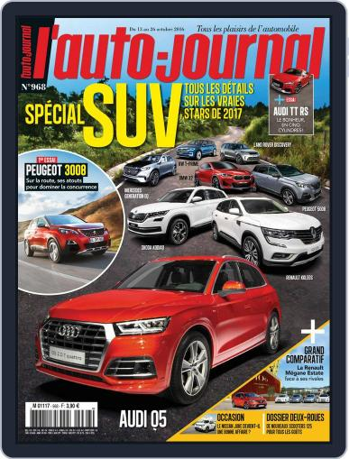 L'auto-journal (Digital) October 13th, 2016 Issue Cover