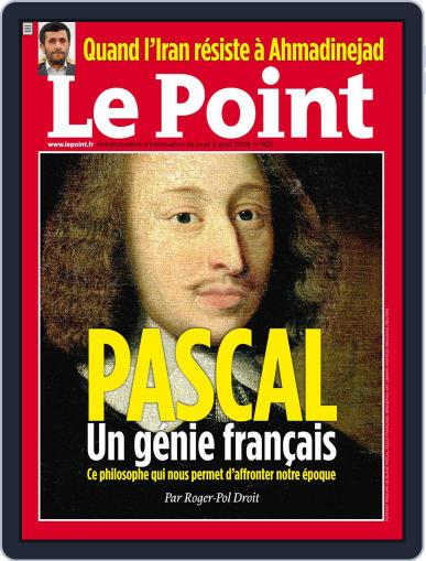 Le Point August 5th, 2009 Digital Back Issue Cover