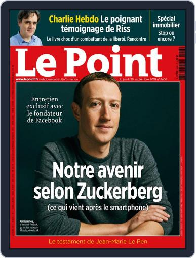 Le Point September 26th, 2019 Digital Back Issue Cover