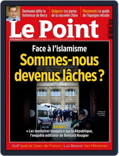 Le Point October 10th, 2019 Digital Back Issue Cover