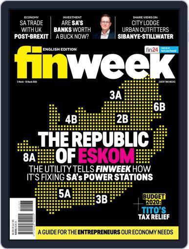 Finweek - English March 5th, 2020 Digital Back Issue Cover