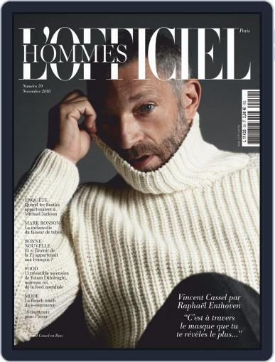 L'officiel Hommes Paris (Digital) November 1st, 2018 Issue Cover