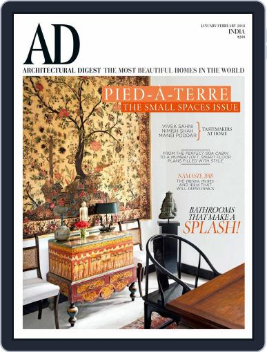 Architectural Digest India (Digital) January 1st, 2018 Issue Cover