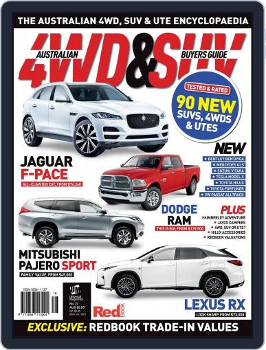 Australian 4WD & SUV Buyer's Guide (Digital) April 28th, 2016 Issue Cover