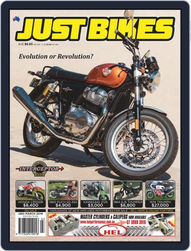 Just Bikes March 15th, 2019 Digital Back Issue Cover