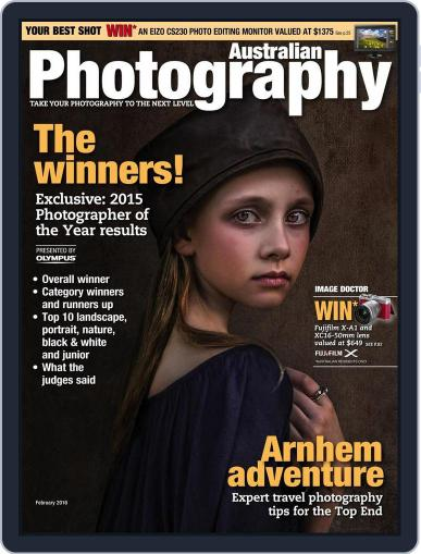 Australian Photography (Digital) January 31st, 2016 Issue Cover