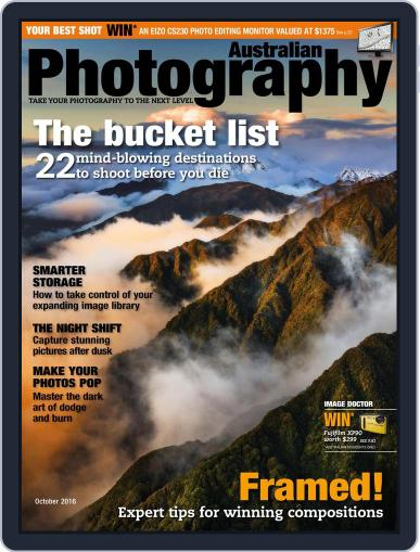 Australian Photography (Digital) October 1st, 2016 Issue Cover