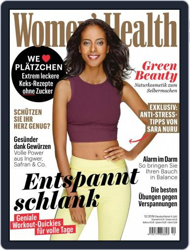 Women's Health Deutschland (Digital) December 1st, 2019 Issue Cover