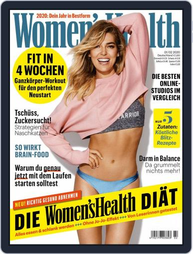 Women's Health Deutschland (Digital) January 1st, 2020 Issue Cover