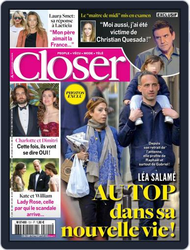 Closer France (Digital) April 5th, 2019 Issue Cover
