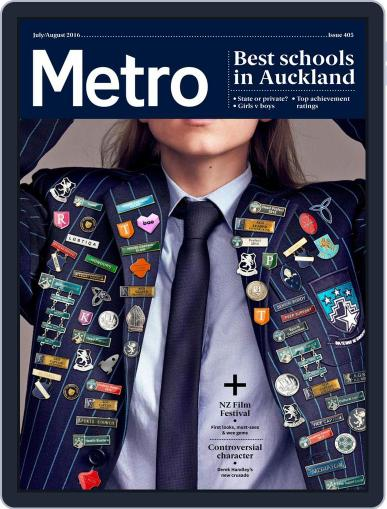 Metro NZ June 30th, 2016 Digital Back Issue Cover