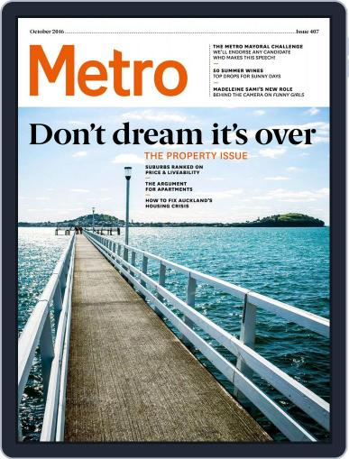 Metro NZ September 22nd, 2016 Digital Back Issue Cover