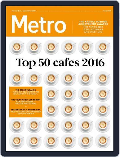 Metro NZ November 1st, 2016 Digital Back Issue Cover
