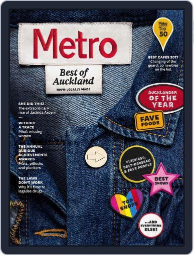 Metro NZ November 1st, 2017 Digital Back Issue Cover