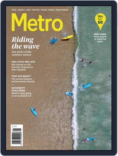 Metro NZ January 1st, 2019 Digital Back Issue Cover