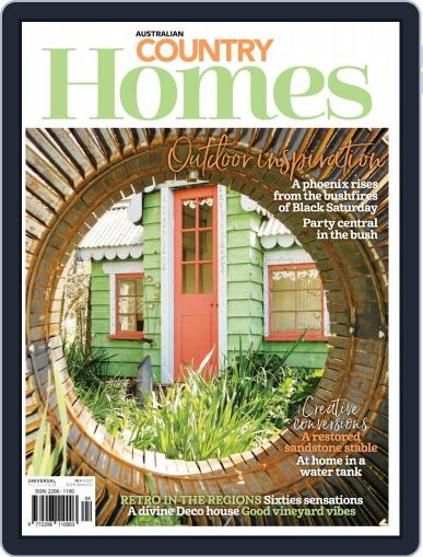 Australian Country Homes August 1st, 2018 Digital Back Issue Cover