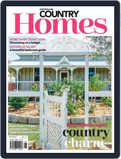 Australian Country Homes March 1st, 2019 Digital Back Issue Cover