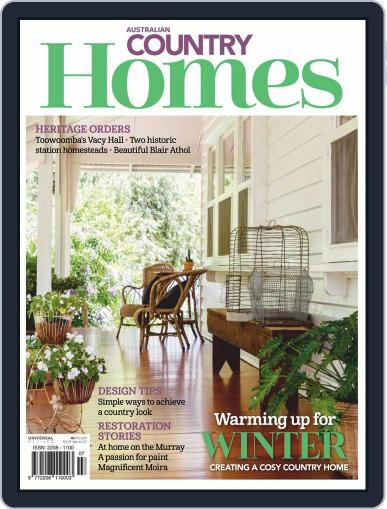 Australian Country Homes (Digital) June 1st, 2019 Issue Cover