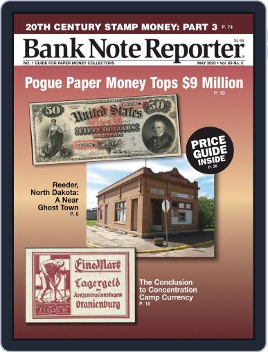 Banknote Reporter May 1st, 2020 Digital Back Issue Cover