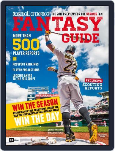 Baseball America: Fantasy Baseball January 1st, 2016 Digital Back Issue Cover