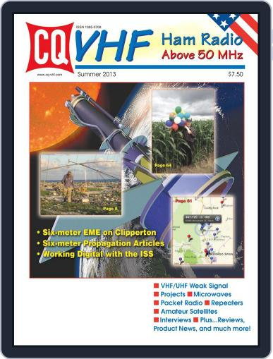 Cq Vhf August 10th, 2013 Digital Back Issue Cover