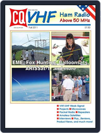 Cq Vhf November 10th, 2011 Digital Back Issue Cover